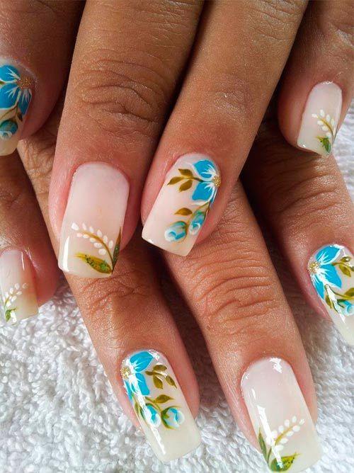 květiny dlouhé nehty