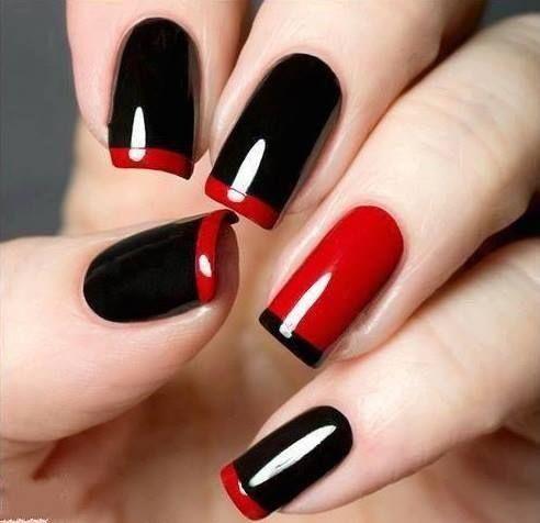 těžká černá bunda s červenou na špičkách