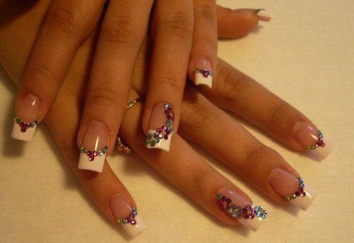 nail design kamínky
