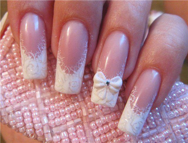 zdobení nehtů na svatbu