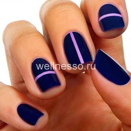 nehty krátké provedení modré a růžové fotky