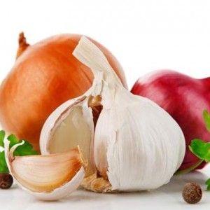 Cibule a česnek s překrvení nosní sliznice
