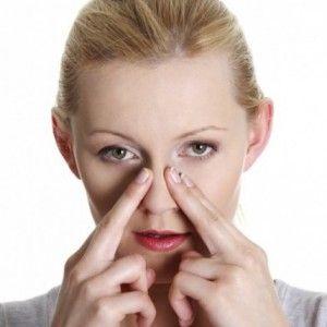 Masáže nosu a vedlejších nosních dutin stěn