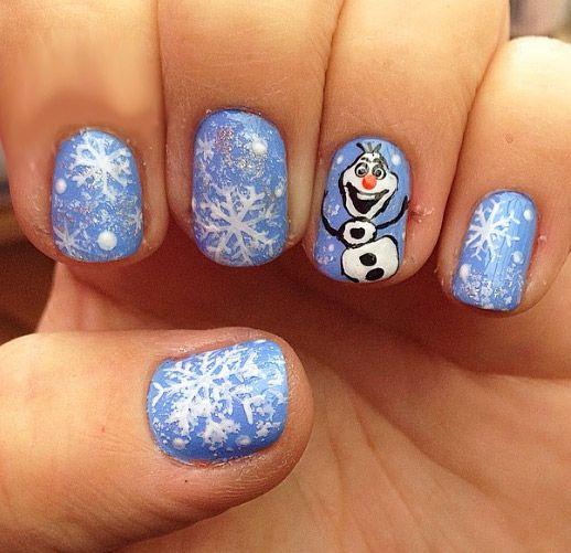 nehty modré s sněhuláků