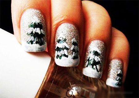 Vánoční stromky na nehty